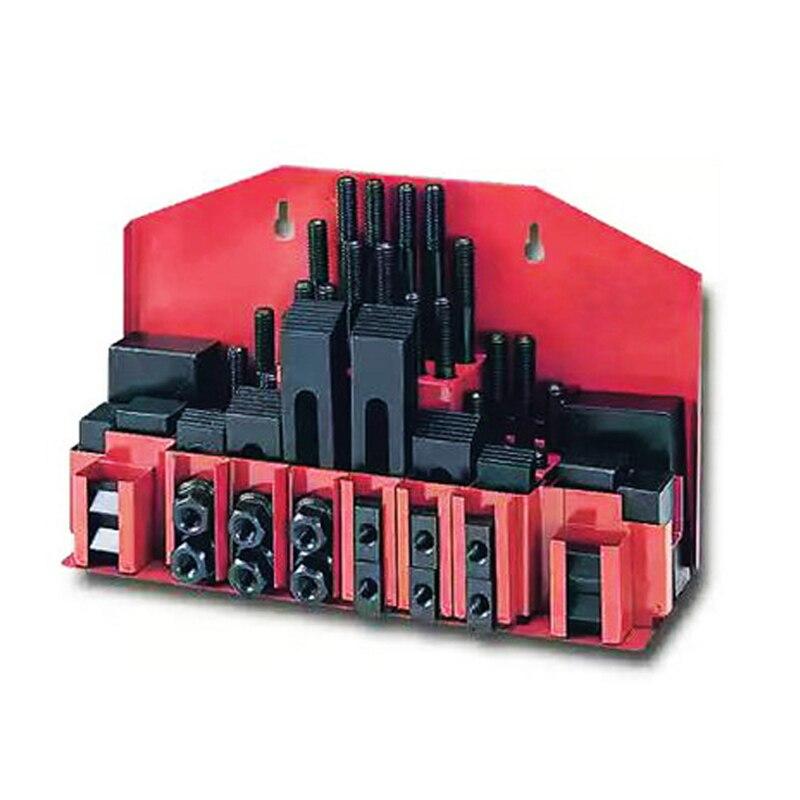 M10 Fräsen Maschine Kombination Platte Form Teile 58 Teile/satz Fräsen Maschine Druckplatte Universal Clamp Gruppe Code Eisen