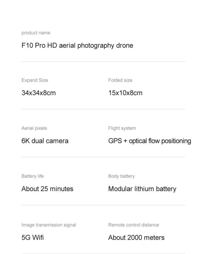 H6a2c4dfbe4174fe7abee91e78b6026491 - Flying Toy 6K F10 Dual Camera With GPS 5G WIFI Wide Angle FPV Real-time Transmission Rc Distance 2km Professional Drone