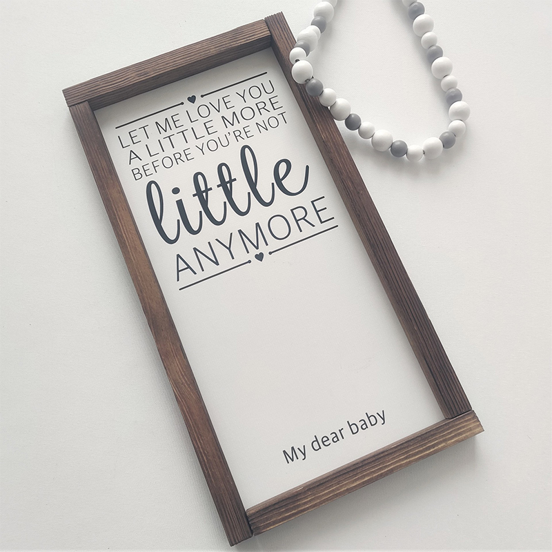 40x20CM Wood Picture Frame for Children's Room Wall Mounting Decorations Baby Photos Display Canvas Paste Photos Home Decor