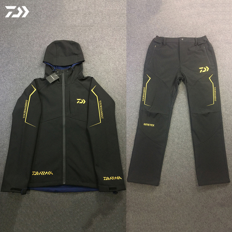 2020 Daiwa New Outdoor Fishing Suits Men Keep Warm Jackets Ice Fishing Clothes Windproof Sports Wear Hiking Jacket And Pants