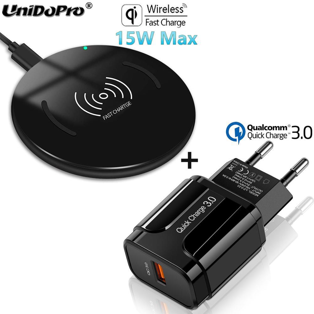 Qi 15W Fast Wireless Charger Pad w/ QC 3.0 EU AC Adapter for  Blackview BV9900 BV9800 BV9700 BV9600 BV6800 BV5800 Pro BV9500 Plus  -