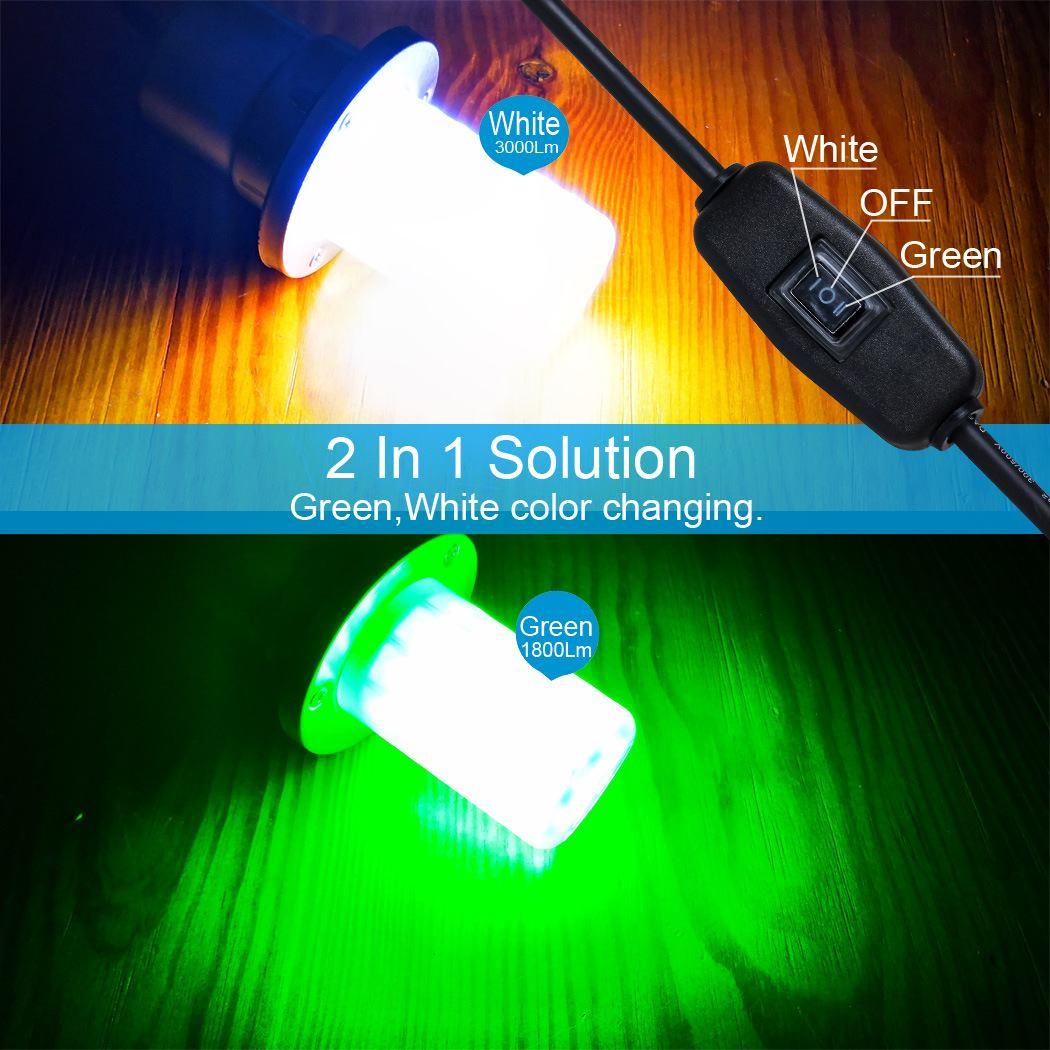 Outdoor 0 30m Unterwasser Licht IP68 Wasserdicht für Meer Nacht Angeln LED Locken Beleuchtung DC12V 50/ 60W Fisch Attraktor Lampe - 3