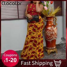 Женское вечернее платье русалка длинное винтажное в африканском