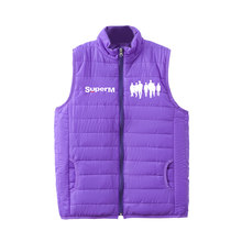 SuperM Down Coats sleeveless light simple design All-match style winter jacket Rayon(China)