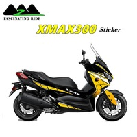 Apply to Yamaha xmax300 motorcycle refit anti wear sticker body protection film full color paste