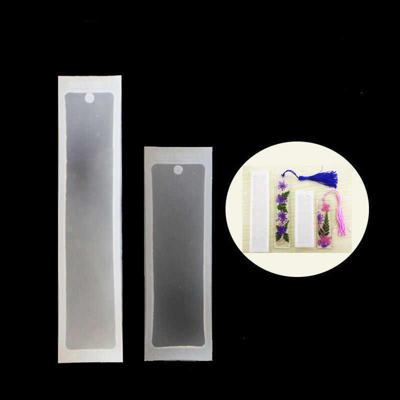 2 unids/set rectángulo de silicona marcapáginas molde DIY marcapáginas para hacer resina epoxi joyería DIY artesanía equipos transparentes