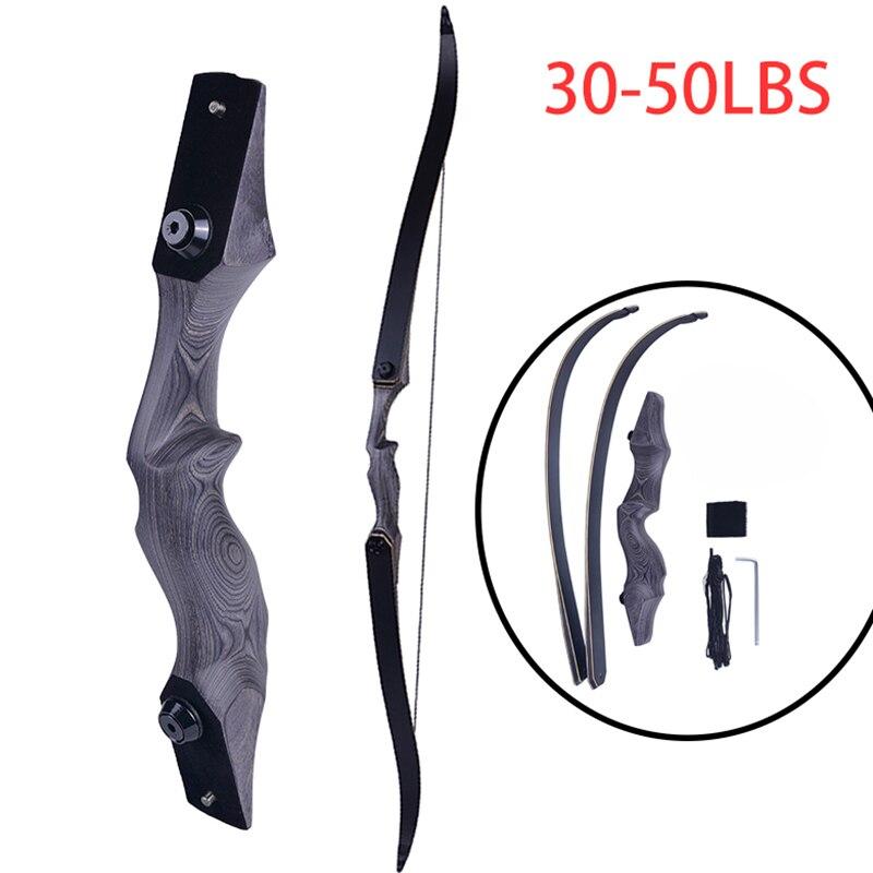 60 дюймов Американский охотничий лук 30-50lbs нарисованная утяжеленная вынос Рекурсивный лук мощный охотничий лук для стрельбы из лука стрела у...
