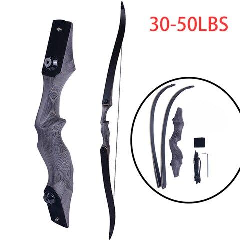 60 polegadas americano arco de caca 30 50lbs desenhar pesagem takedown recurvo arco poderoso caca