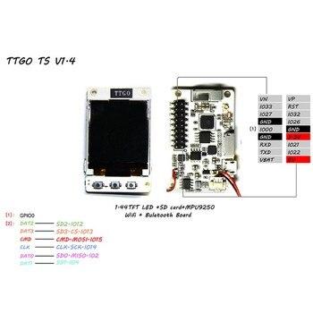 TTGO TS V1.0 V1.4 ESP32 1.44 1.8 TFT MicroSD Card Slot Speakers MPU9250  Bluetooth Wifi Module Circuits    -