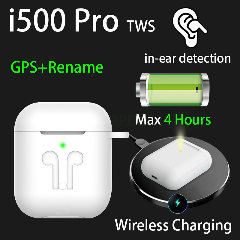 Original i500 Pro TWS 1:1 In-ear Blutooth Earphone Mini Wireless Sport Headsets Headphones Stereo Earbuds elari PK Aire 2 3 image
