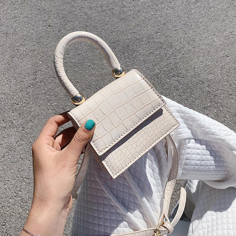 Super Mini PU Leather Crossbody Bags For Women 2020 Stone Pattern Shoulder Handbags Female Travel Totes Lady Lipstick Bag