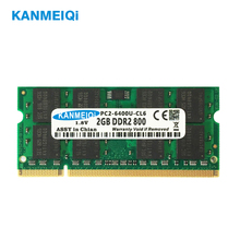 KANMEIQi ram DDR2 2gb PC2-6400u  667/800MHz laptop memory Notebook somidd 1.8v  New jzl laptop memory module ram sdram ddr2 533 667 800 mhz 200pin 2gb so dimm ddr 2 pc2 4200 5300 6400 notebook computer sodimm