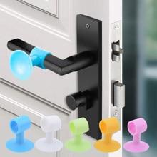 Tampa de porta de silicone silenciador almofada de impacto rolha de borracha anti colisão rolha porta do bebê protetor de segurança anti-colisão 5pcs