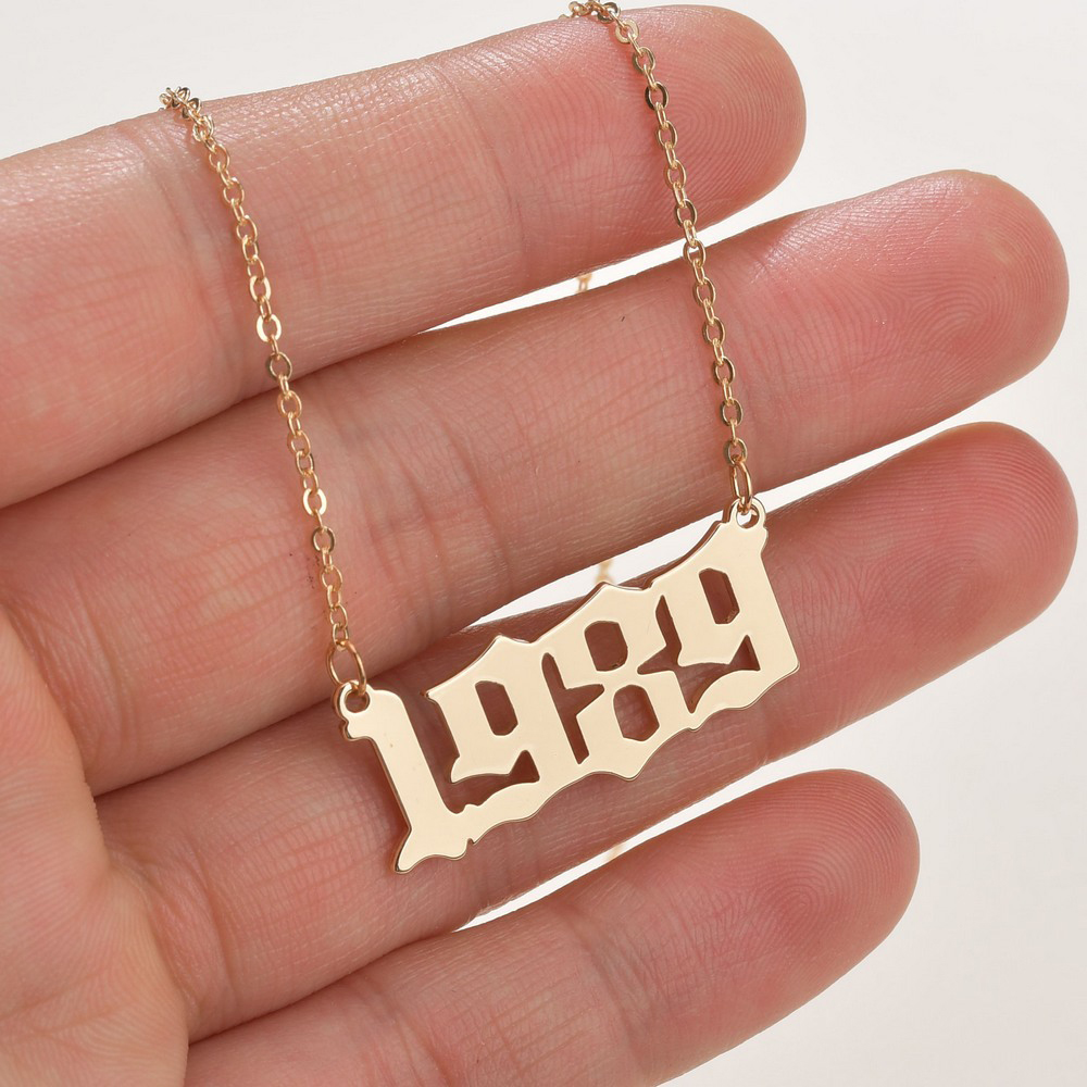 SUMENG 2020 New Fashion Year Number Necklaces Gold Color Long Chain Male Female Pendant Necklace Fashion Jewelry For Women Men(China)