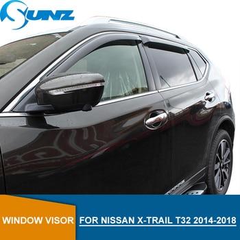 Black Car Window Deflector Visor  For NISSAN Rogue X-TRAIL t32 2014 2015 2016 2017 2018  Side window deflectors SUNZ