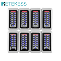 8pcs RETEKESS Keypad RFID Access Control System Proximity Card Standalone 2000 Users Door Access Control Waterproof Case F9501D