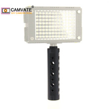 """CAMVATE אלומיניום סגסוגת מצלמה ידית אחיזה עם 3/8 """" 16 חוט ראש עבור וידאו/צג/פלאש אור/דיגיטלי מצלמות מצלמות וידאו"""