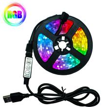 Taśmy LED światła elastyczna lampa 1M 2M 3M 4M 5M taśma dioda SMD 2835 DC5V biurko ekran oświetlenie tła do TV kabel USB 3 klucz kontroli tanie tanio OEING SALON 50000 PRZEŁĄCZNIK 7 36 w m Epistar 60 m