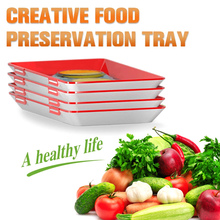 Tray Food Plastic Preservation Kitchen Tools Healthy Seal Storage Container L99