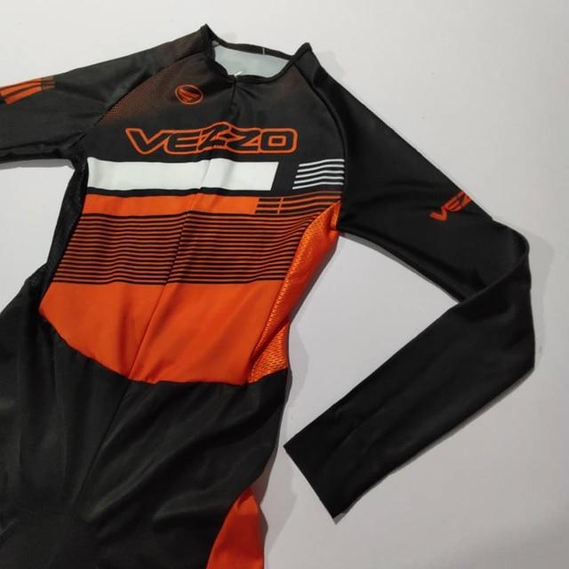 Vezzo verão mangas compridas mulheres bicicleta skinsuit roupa de ciclismo speedsuit mtb ciclismo triathlon esportes ao ar livre wear macacão 3