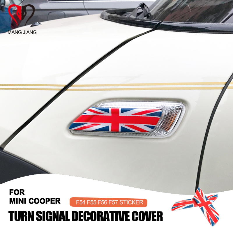 Union Jack Car Sticker Turn Signal Fender Decoration Cover Case for Mini Cooper Clubman F54 F55 F56 F57 Car-styling Accessories
