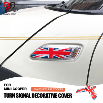 Union Jack Car Sticker Turn Signal Fender Decoration Cover Case for Mini Cooper Clubman F54 F55 F56 F57 Car-styling Accessories недорого