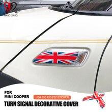 Union Jack pegatina para intermitente de coche, decoración para defensa, funda para Mini Cooper Clubman F54 F55 F56 F57, accesorios de estilismo para coche