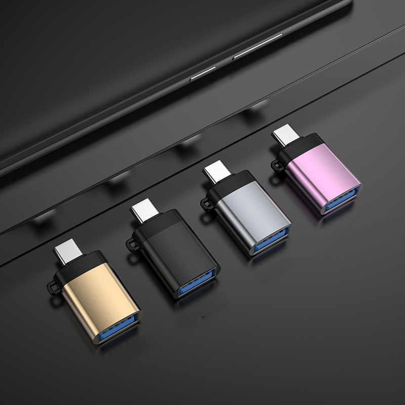 Loại C Cáp OTG Adapter Dành Cho Xiaomi Redmi Note 8 Pro Mi10 Mi 10 Huawei P30 Samsung S9 S10 OnePlus 7 One Plus 7T Google Pixel 4 3