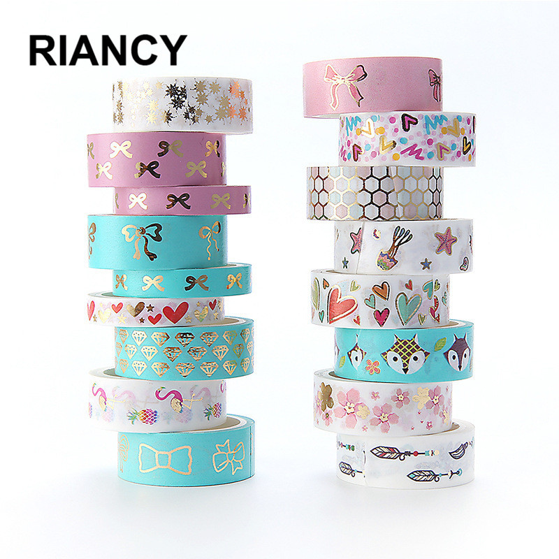 Flamingo Foil Kawaii Washi Tape Scrapbooking Masking Tape Stickers Scrapbooking Washitape Washy Tape 024002