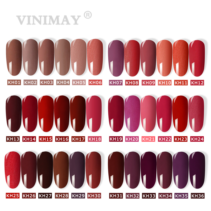 VINIMAY Brand Red Gel Nail Polish vernis semi permanant UV Nail Gel Lak Primer Soak Off Nail Art Gel Varnish Gelpolish Manicure
