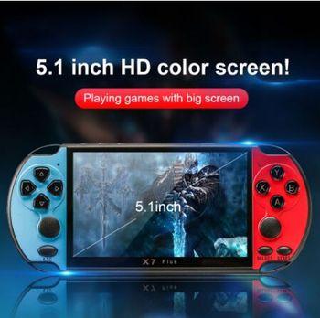 X7 Plus consola de juegos cámara portátil MP5 HD películas doble Rocker 8G Video niños música LCD recargables Handhelds