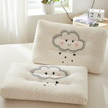 Детские подушки из натурального латекса, детские подушки для кровати для сна с мультяшным принтом, детские подушки для детей 0-12 лет