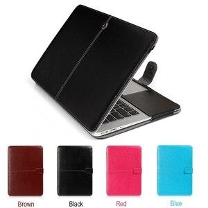 Новый чехол из искусственной кожи Твердый Чехол для ноутбука Apple Macbook Air Pro Retina 11 12 13 15 16 inchs модель A1286 A1398 A1466 A1278