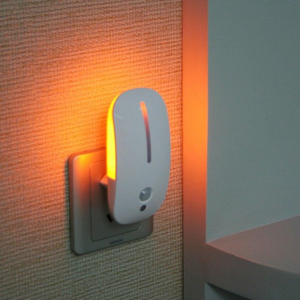 Plug In Night Light With Motion Sensor Light Sensor Energy-saving Auto On/Off Baby Kids Bedroom Hallway Lamp Luminaria EU Plug