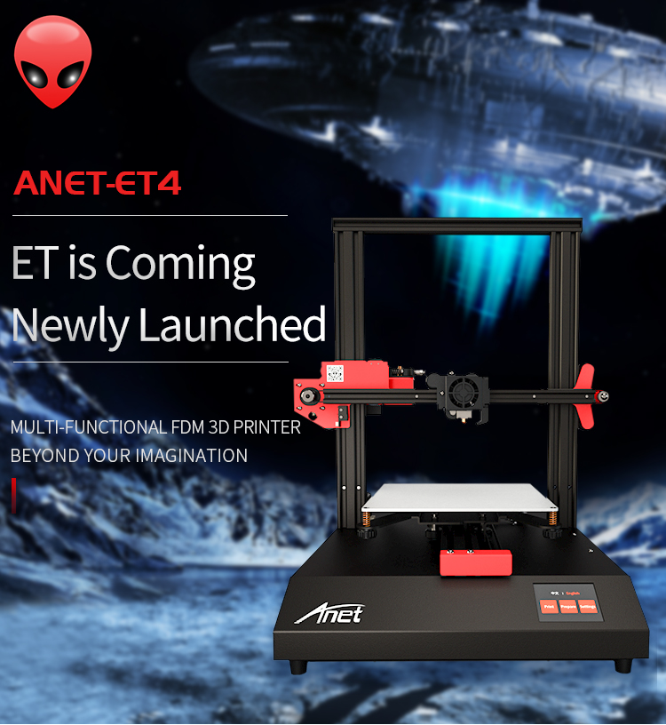 ANET ET4 and ET4 X 3D Printer with Filament Detection/Offline Printing and Color Touch Screen 6