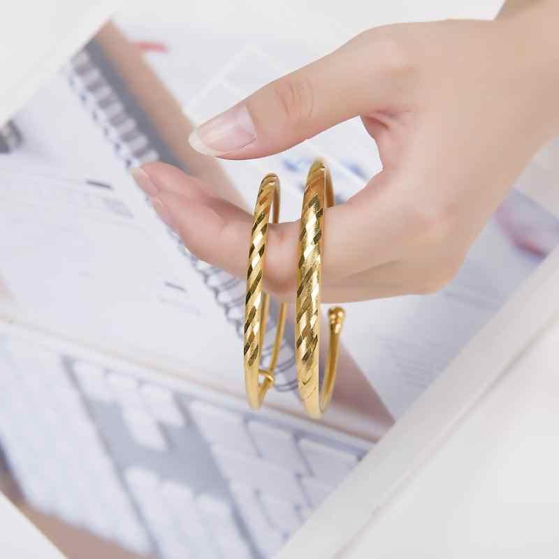 شخصية الأحرف الأولى أساور أساور للنساء هدية الذهب بار شارة مخصص محفورة سوار نحاسي النقش رسالة مجوهرات