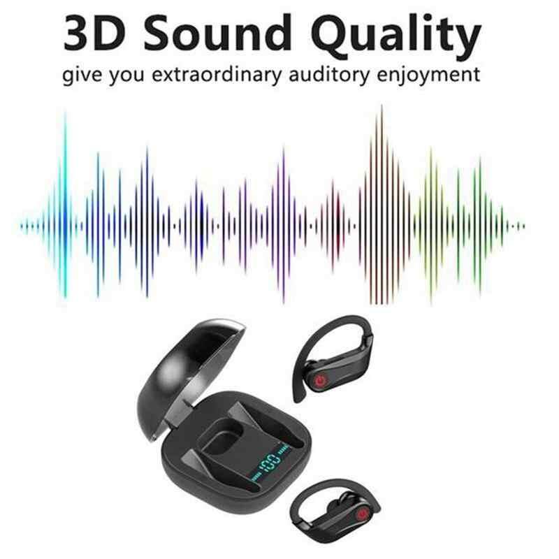 Para hbq q62 powerbeats pro tws bluetooth 5.0 fone de ouvido 3d estéreo sem fio fones à prova dwaterproof água com caixa carregamento