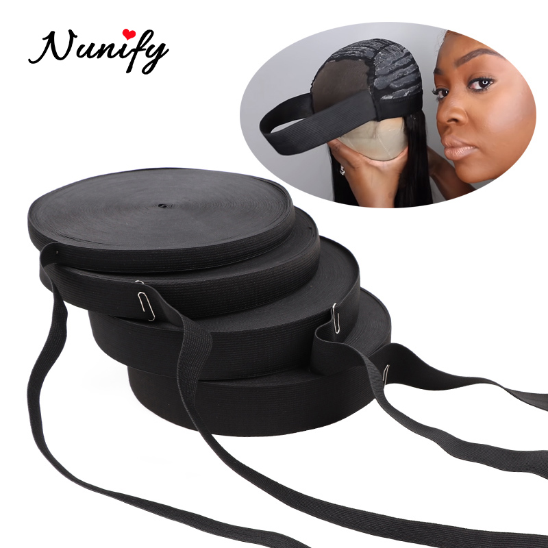 Nunify Black Nylon Highest Elastic Bands Sewing Accessories Width 1/1.5/ 2/2.5/3/4/5Cm Garment Trousers Sewing Making Wig Diy