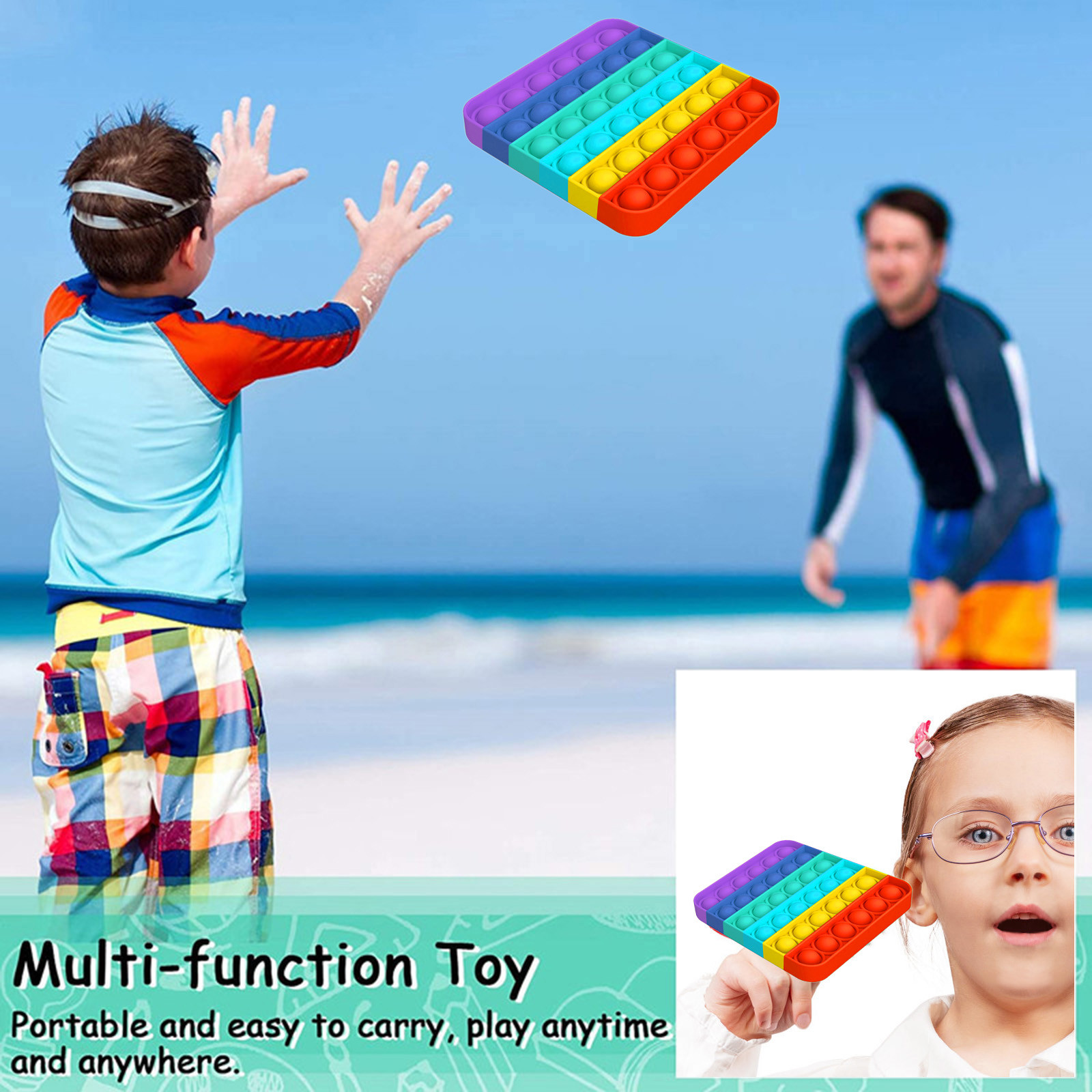 Stress Reliever Toys Game Bubble-Sensory-Toy Autism Gifts Adult Push Kids Simple Dimple img4