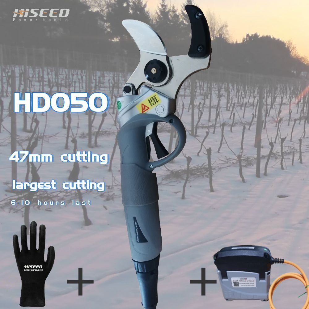 45MM Cutting Diameter Newest Professional Electric Pruner Cutting Secateurs Tree Pruning Shear Garden Shears Vineyard