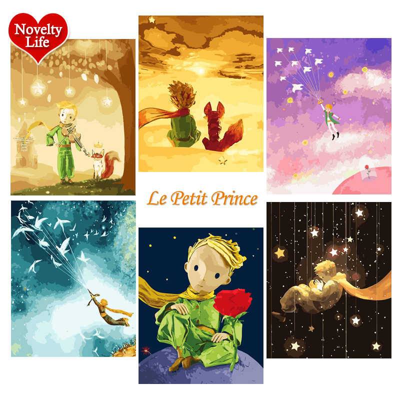 DIY Painting By Number Art Paint Little Prince Cartoon Anime Game Simple Coloring Picture Adult Hand Drawing Canvas Gift for Kid