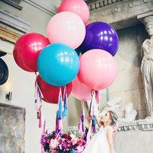 36 дюймов 70 25 г латексных воздушных шаров с плоский бальное свадебное украшение для День рождения ко Дню Святого Валентина шар 026