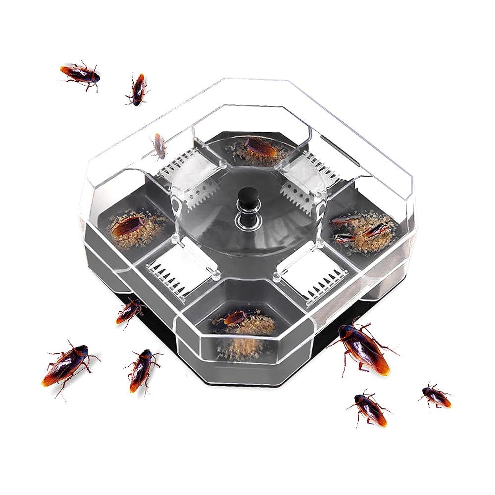 1Set Garden Effective Cockroach Traps Box Reusable Cockroach Bug Roach Catcher Cockroach Killer Bait Traps Pesticide For Kitchen