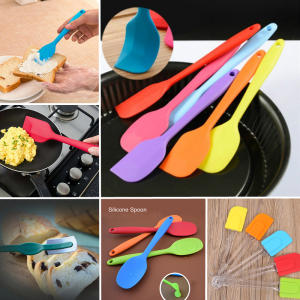 Scraper Kitchen Utensil Turners Spatula Cooking-Tool Cake Silicone Spoon Integrate-Handle