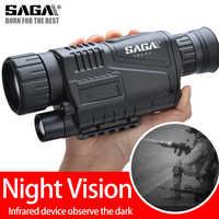 SAGA Digital infrarrojo visión nocturna Monocular alcance 5 zoom visor nocturno imager para caza Camping telescopio de caza al aire libre