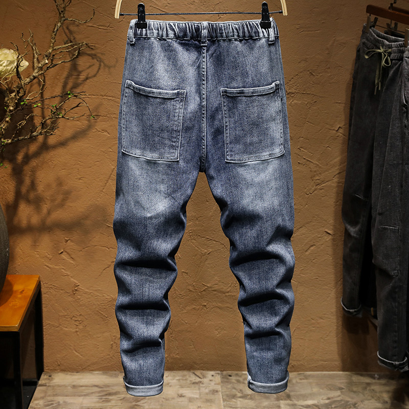 KSTUN Jogger Jeans Men say hi to the denim version of sweatpants the elastic drawstring waist and baggy legs are comfortable 12