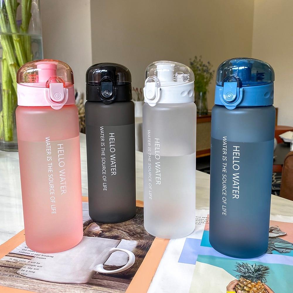 780 мл пластиковая бутылка воды для спорта большой Ёмкость на открытом воздухе матовый стакана воды для мужчин и женщин, для детей школьного ...
