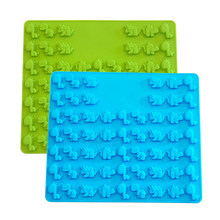 57 Cavity Mini Dinosaur Candy Silicone Mold For Chocolate Jelly Ice Cube Gummy Hard Candy Cake Decorating Tool