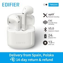 EDIFIER TWS200 TWS наушники Qualcomm aptX беспроводные наушники Bluetooth 5,0 cVc двойной микрофон шумоподавление до 24 ч Время воспроизведения