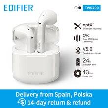 EDIFIER TWS200 TWS kulakiçi Qualcomm aptX kablosuz kulaklık Bluetooth 5.0 cVc çift mikrofon gürültü 24h oynatma zaman